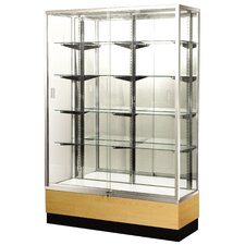 "Streamline 70"" x 15"" Trophy Case with Panel Back"