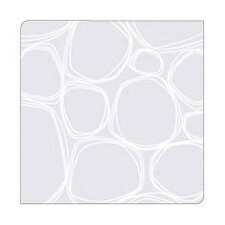 Coaster Notz Pebbles in White on Clear Base (Set of 4)