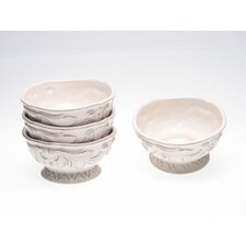 Firenze Ivory Ice Cream Bowl by Pamela Gladding (Set of 4)