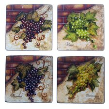 Wine Cellar by Tre Studios Square Salad Plate (Set of 4)