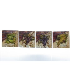Wine Cellar by Tre Studios Canape Plate (Set of 4)
