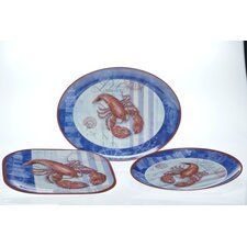 Blue Crab and Lobster by Geoff Allen Serving Set