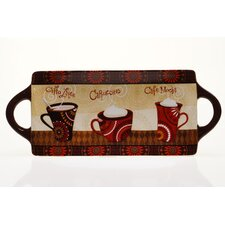 "Cup Of Joe 15.75"" Rectangular Platter"