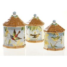 Botanical Birds Canister (Set of 3)