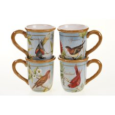 Botanical Birds 20 oz. Mug (Set of 4)