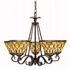Art Glass 5 Light Chandelier