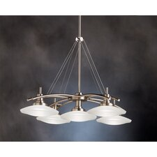 Structures 5 Light Chandelier in Brushed Nickel