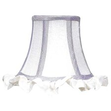 Ruffled Edge Chandelier Shade in White