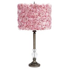 Rose Garden Glass Ball Lamp