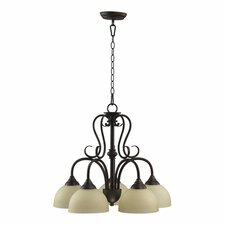 Powell  5 Light Nook Chandelier in Toasted Sienna