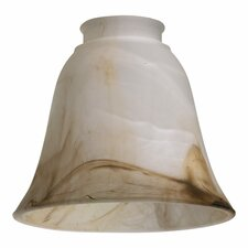"5"" x 5.5"" Faux Brown Alabaster Glass Shade for Ceiling Fan Light Kit"