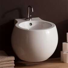 Planet Wall Mounted Bidet in White