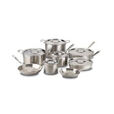 d5 Brushed Stainless Steel 14 Piece Cookware Set