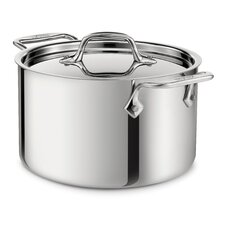 Stainless Steel 4-Qt. Round Casserole with Lid