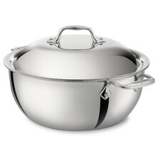 Stainless Steel 5 1/2-Qt. Round Dutch Oven