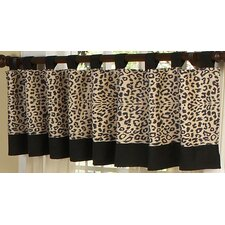 Animal Safari Tab Top Tailored Curtain Valance