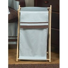 Hotel Blue and Brown Laundry Hamper