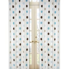 Mod Dots Cotton Curtain Panel Pair