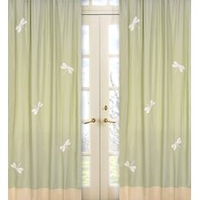 Green Dragonfly Dreams Curtain Panel Pair