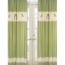 Leap Frog Cotton Curtain Panel Pair