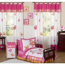 Butterfly Pink Orange Toddler Bedding Collection 5 Piece Set