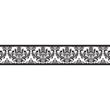 Isabella Black and White Collection Wall Paper Border