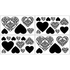 Isabella Black and White Collection Wall Decal Stickers