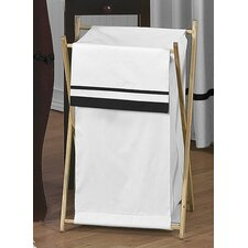 Hotel White and Black Laundry Hamper