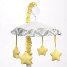 Zig Zag Yellow and Gray Collection Musical Mobile