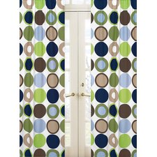 Designer Dot Rod Pocket Curtain Panel Pair with Valances