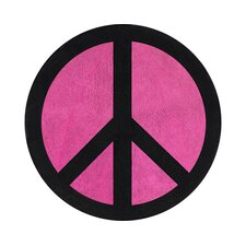 Peace Pink Collection Floor Rug