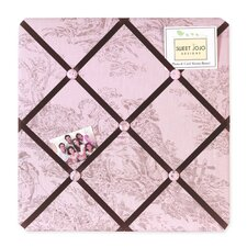 Pink and Brown Toile Collection Memo Board