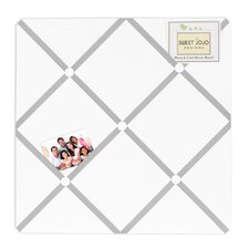 Diamond Gray and White Collection Memo Board