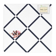 Hotel White and Navy Collection Memo Board