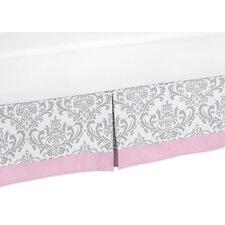 Pink and Gray Elizabeth Queen Bed Skirt