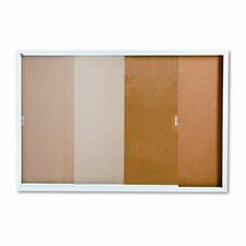 Enclosed Cork over Fiberboard Bulletin Board with Aluminum Frame