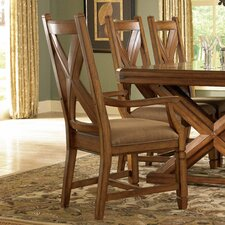 Deep River Wood Back Arm Chair