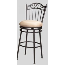 "26"" Memory Swivel Counter Stool with Windsor Back"
