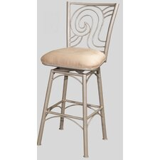 "26"" Memory Swivel Counter Stool with Straight Legs"