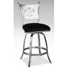 Andrea Memory Swivel Bar Stool in Nickel Plated
