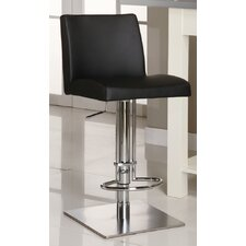 Adjustable Causal Swivel Stool in Black