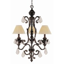 Crystal Flair 3 Light Mini Chandelier with Crystal Accents