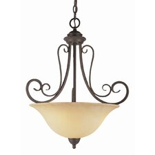 New Century 3 Light Inverted Pendant