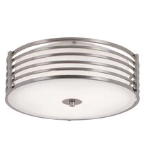 2 Light Small Metal Flush Mount