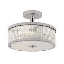 Crystal Sun 1 Light Semi-Flush Mount