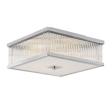 Sunburst 4 Light Flush Mount