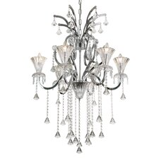 Trumpet Vine 6 Light Chandelier