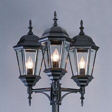 "3 Light 98"" Post Lantern Set"
