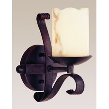 Olde World 1 Light Heavy Iron Wall Sconce