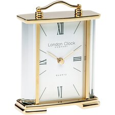 Crystal Sided Mantle Clock in Gold